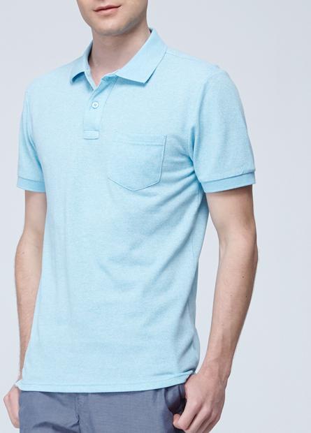 素色貼袋POLO衫