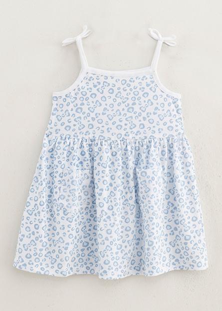 女嬰兒蝴蝶結細肩帶洋裝