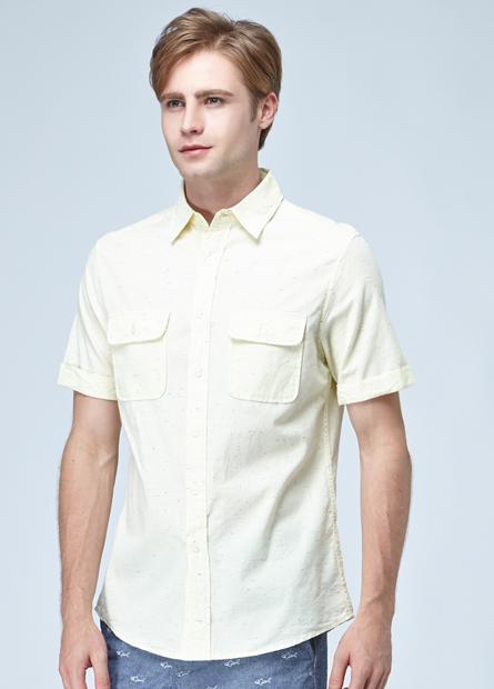 雙貼袋短袖襯衫
