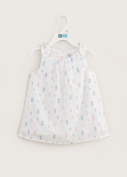 女嬰滿版小熊洋裝