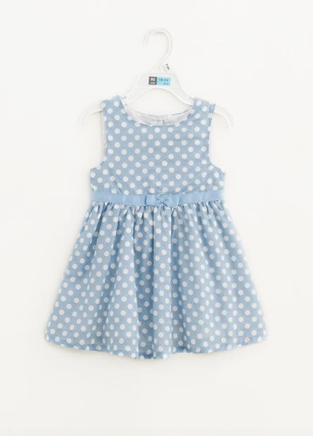 女嬰滿版圓點洋裝