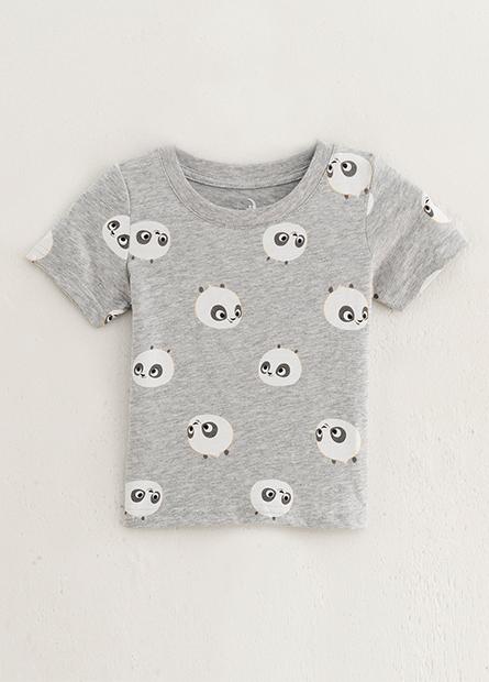 男嬰兒滿版功夫熊貓T