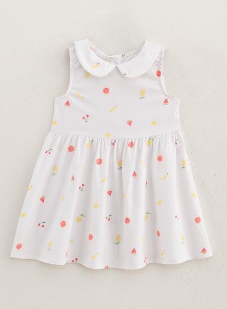女嬰滿版水果印花洋裝
