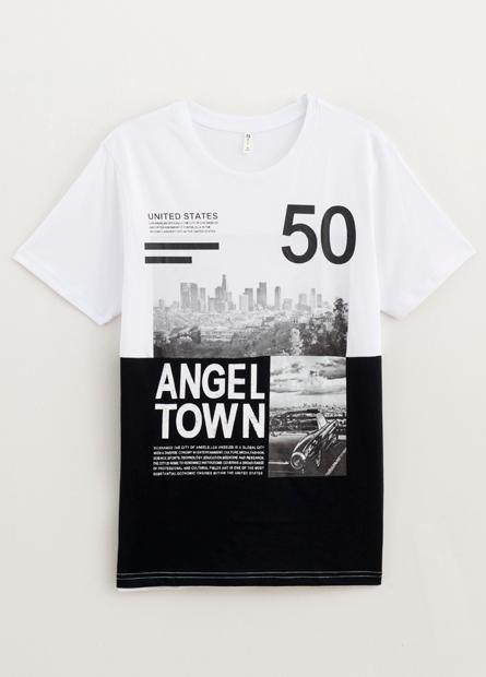 剪接城市照片T