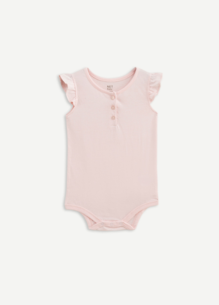 女嬰兒荷葉袖包臀衣