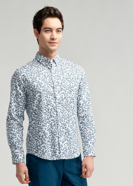 純棉水洗鈕釦領基本襯衫