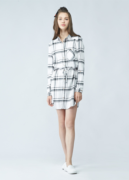 棉質單釦捲袖口袋長襯衫