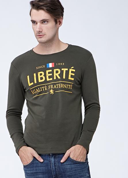 吸濕保暖法國國旗英文字T