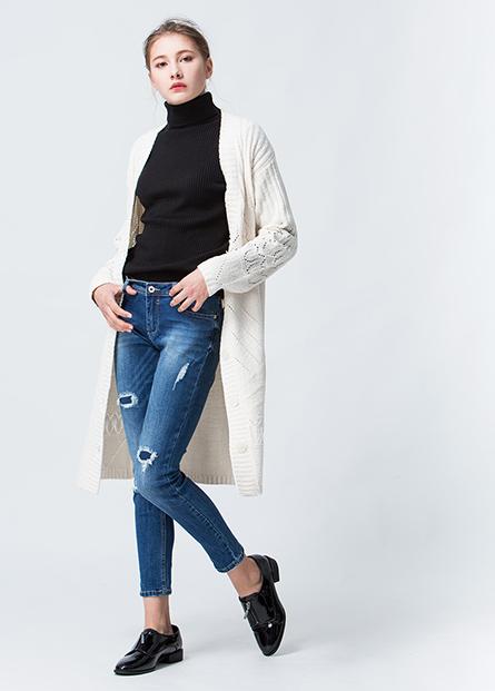 V領毛衣外套