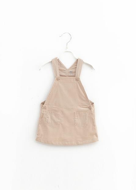 女嬰素色吊帶洋裝