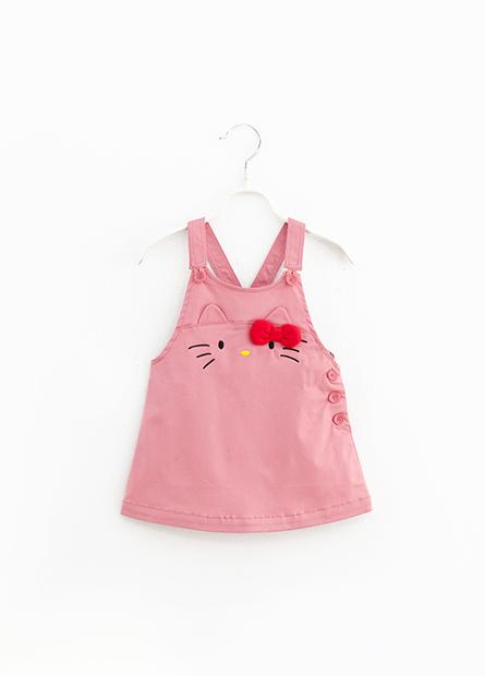 女嬰KITTY造型吊帶裙