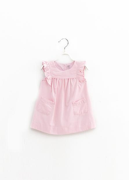 女嬰荷葉袖洋裝