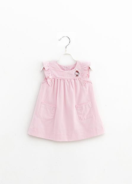 女嬰KITTY荷葉袖洋裝