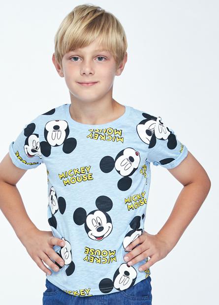 男童滿版米奇反摺袖T