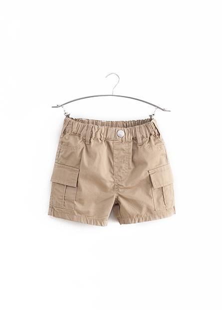 男嬰素色大口袋短褲