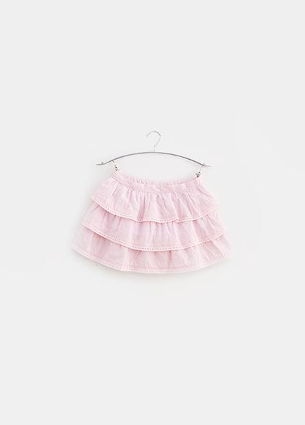 女嬰鏤空刺繡蛋糕短裙