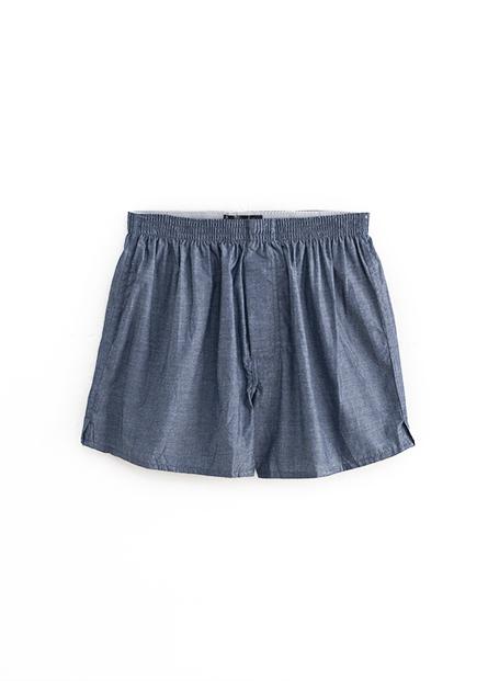 純棉素色平口四角內褲