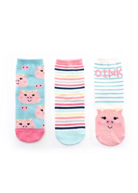 童提花短襪(三入)