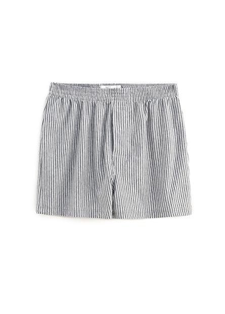 純棉印花條紋四角內褲