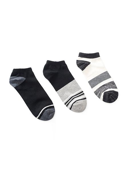 男造型踝襪(三入)