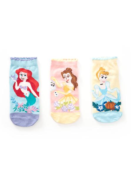 女童迪士尼公主短襪(三入)