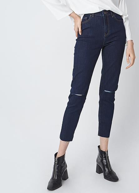 Skinny Fit高腰牛仔褲