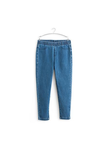 女童緊身彈力牛仔長褲