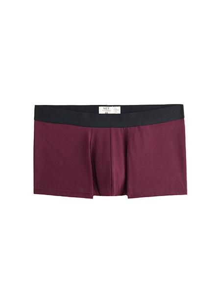 素色中低腰四角內褲