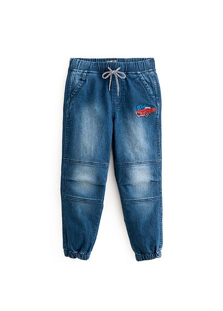 男童鬆緊縮口牛仔長褲