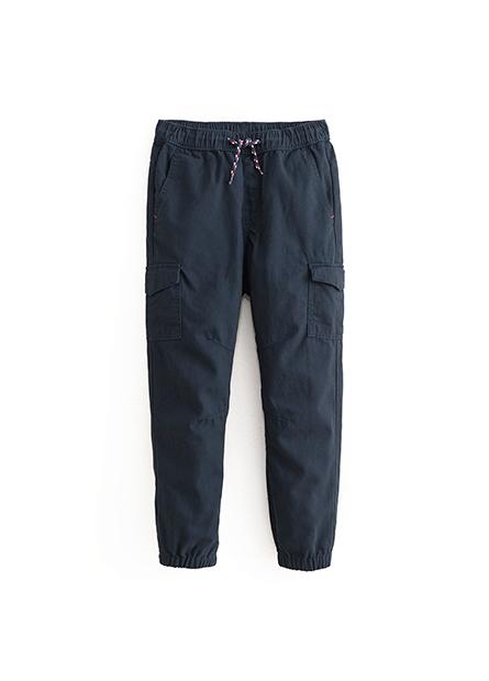 男童水洗抽繩縮口長褲