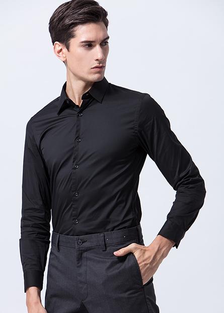 Skinny Fit合身長袖襯衫