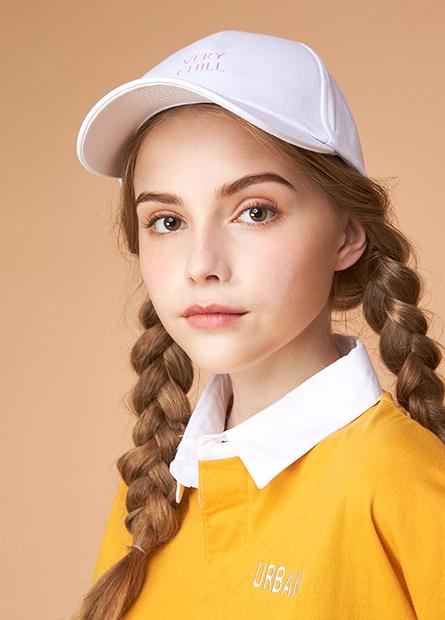 素色立體英文字棒球帽