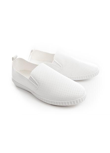 女仿皮沖孔休閒鞋