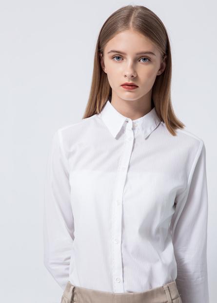 商務荷葉蕾絲襟襯衫