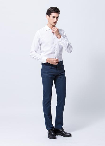 Slim Fit修身直筒長褲