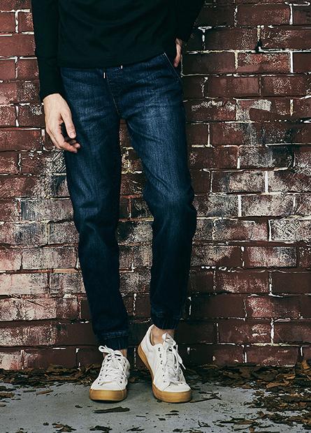 Slim Fit縮口牛仔長褲