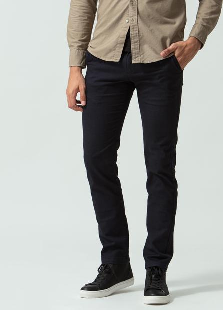 Skinny Fit窄管素色長褲