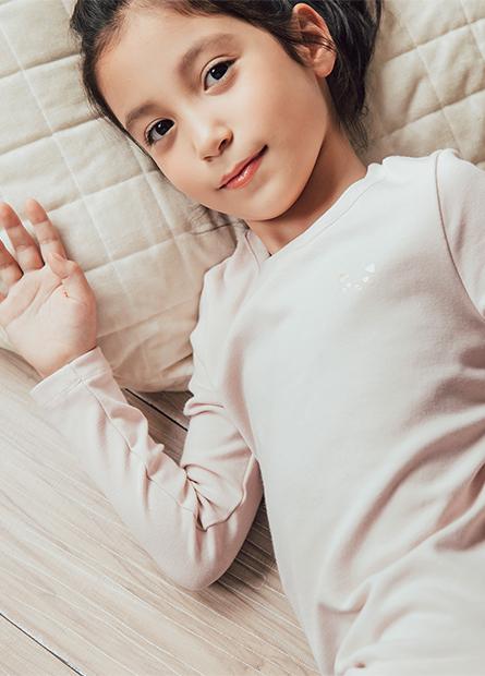 女童印花內刷毛上衣