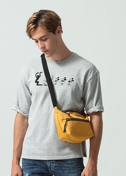 雙拉鍊船型小肩背包