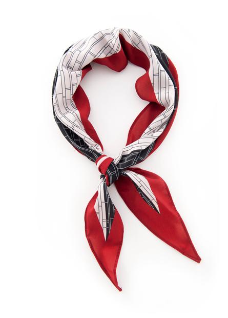 印花三角旗小領巾