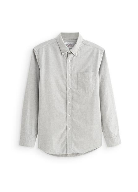 鈕釦領牛津單口袋襯衫
