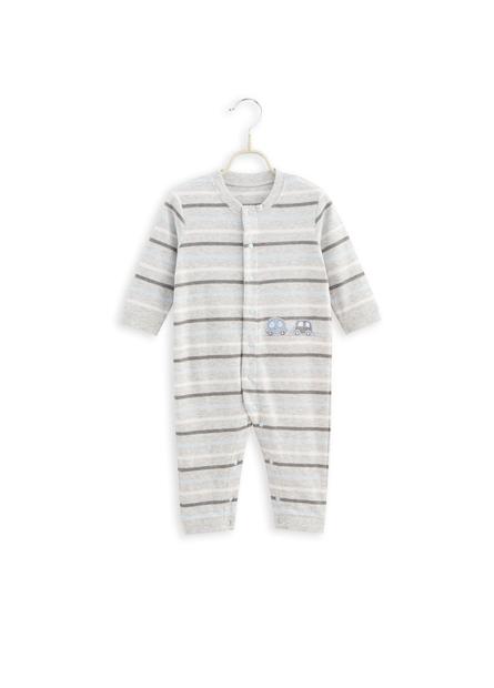 男嬰童前開釦連身衣