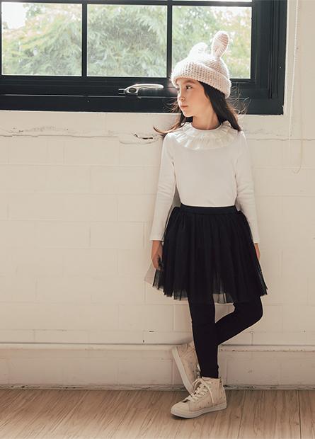 女童層次網紗襯裙長褲