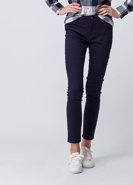 Skinny Fit素色緊身褲