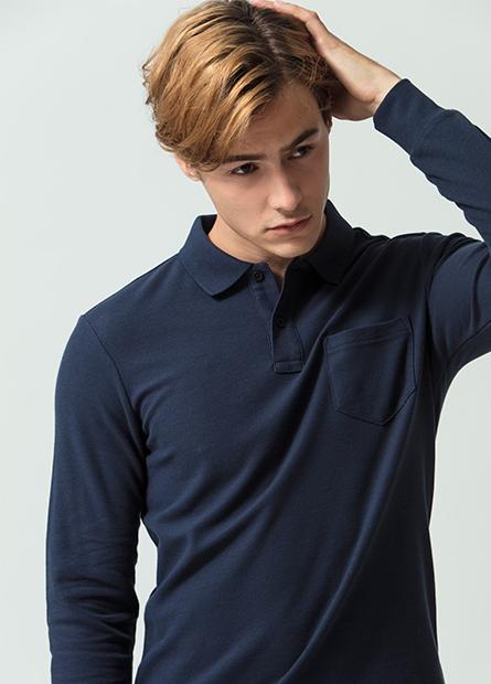 素色單口袋POLO衫