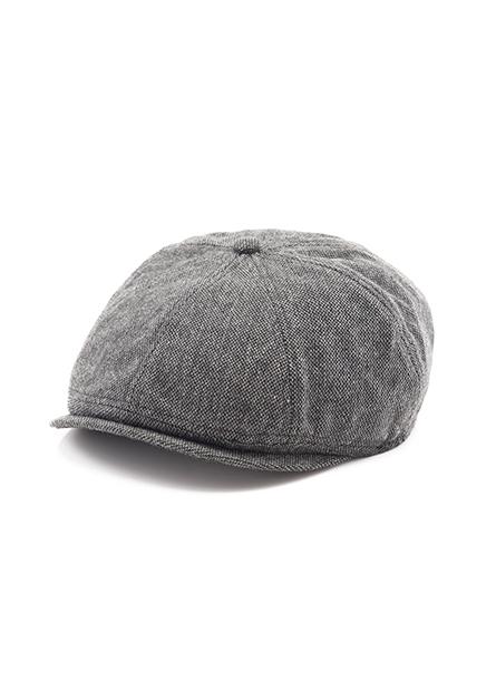 素色毛料鴨舌帽