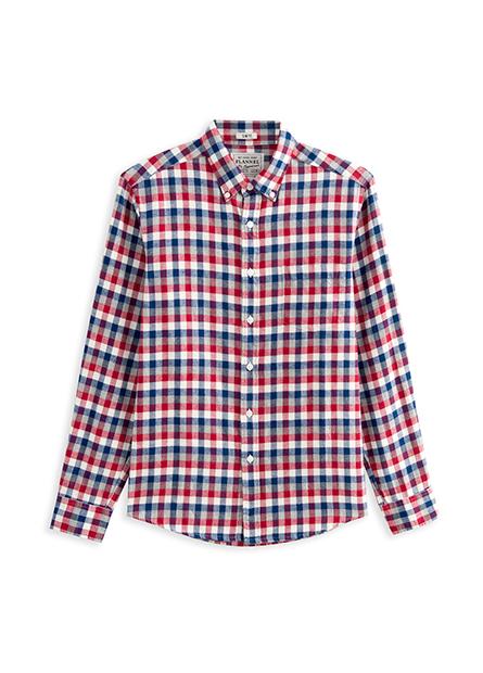 Slim Fit法蘭絨鈕釦領襯衫