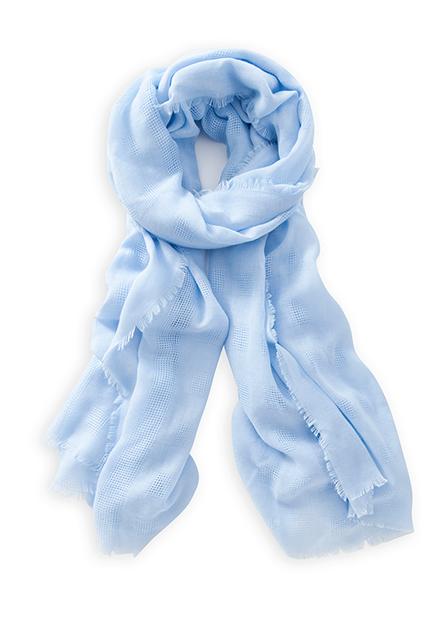 方塊織紋提花絲巾