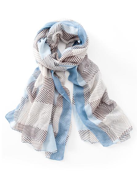 幾何印花絲巾