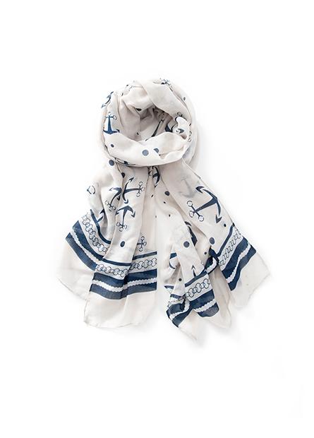 海錨印花絲巾